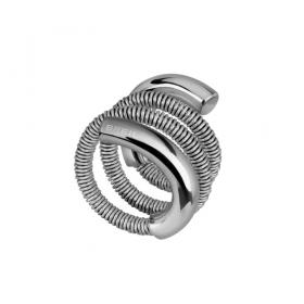 Breil Anello New Snake Steel